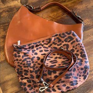 FINAL SALE Co-Lab Chestnut Brown Satchel Bag NEW